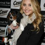Amanda Bynes and her Cavalier King Charles Spaniel, Charlie