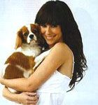 Jennifer Love Hewitt with her Cavalier King Charles Spaniel, Charlie