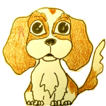 Cartoon of a Cavalier Spaniel